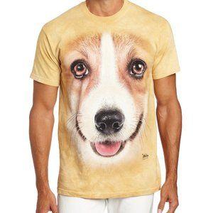 Unisex The Mountain Corgi Dog Tee Shirt Brown 3XL